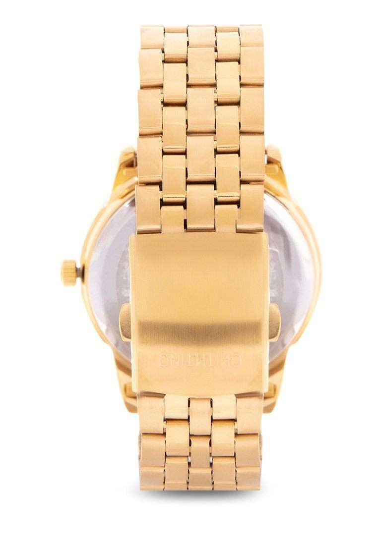 Valentino 20122122-SILVER DIAL Gold Stainless Steel Band Watch for Men