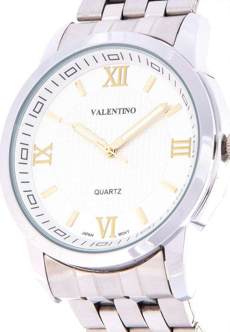 Valentino 20122123-SIL - GOLD INDEX Silver Stainless Steel Band Watch for Men