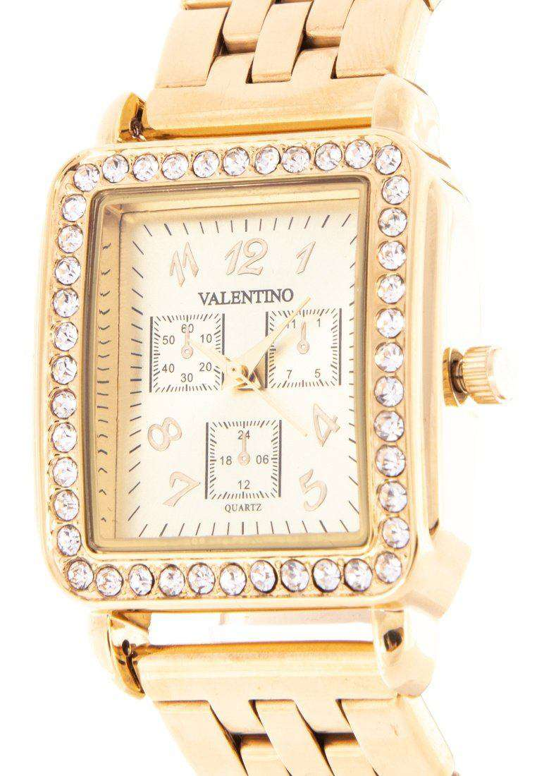 Valentino 20122126-GOLD DIAL Gold Stainless Steel Band Watch for Women