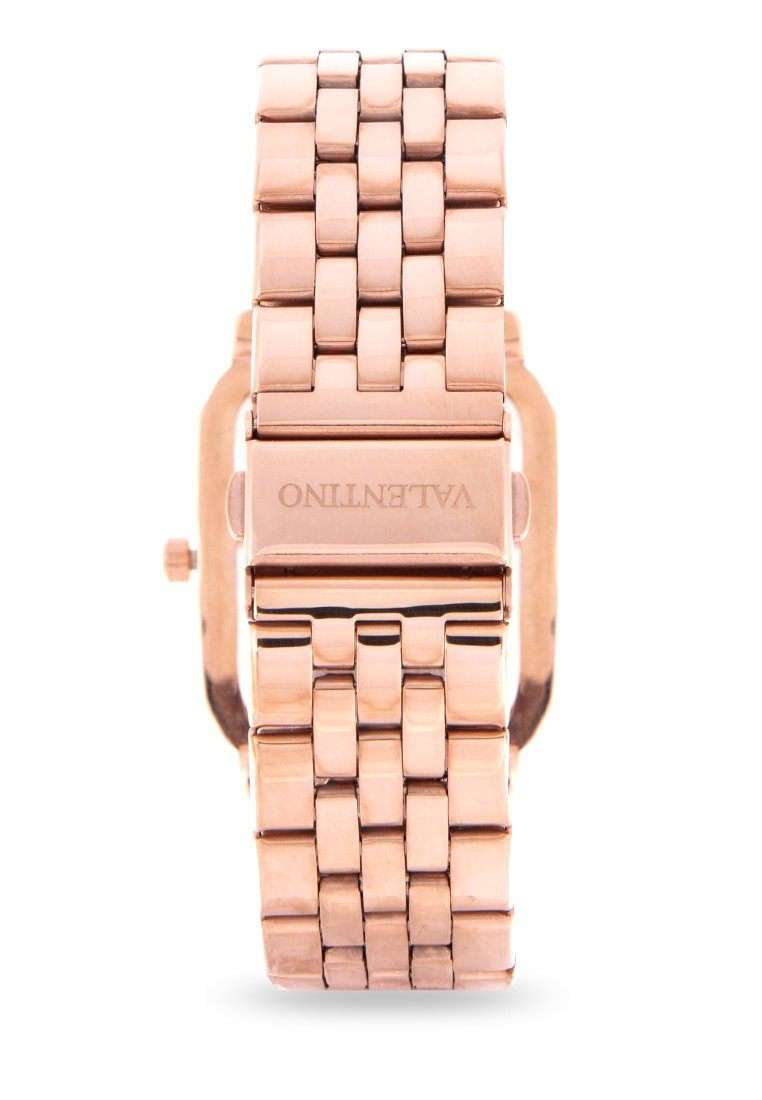 Valentino 20122127-ROSE DIAL Rose Gold Stainless Steel Band Watch for Women