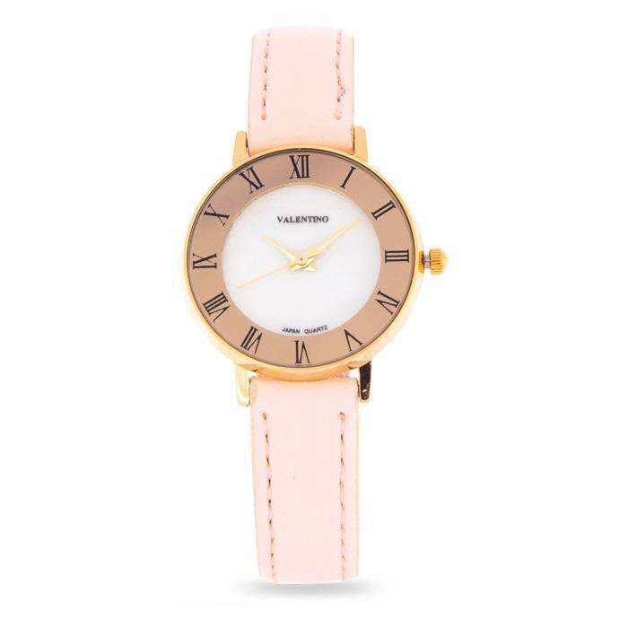 Valentino 20122129-PINK STRAP Pink Leather Strap Watch for Women