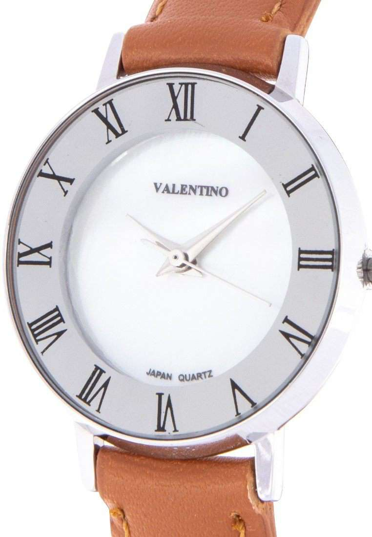 Valentino 20122131-BROWN STRAP Brown Leather Strap Watch for Women