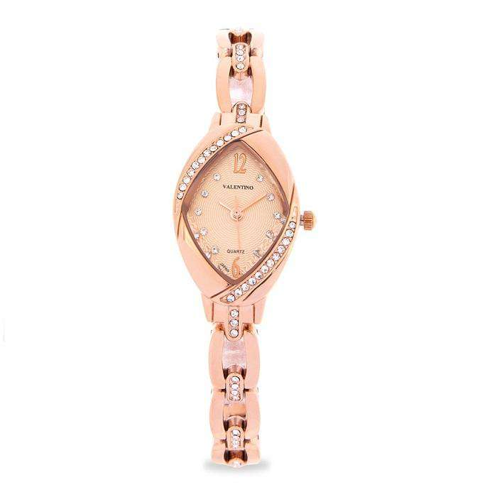 Valentino 20122135-ROSE DIAL Rose Gold Fashion Metal Band Watch for Women