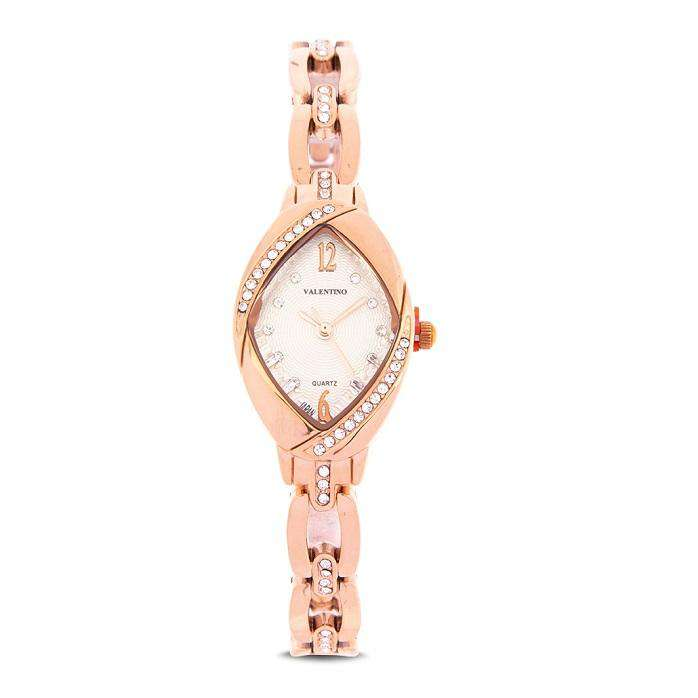 Valentino 20122135-WHITE DIAL Rose Gold Fashion Metal Band Watch for Women