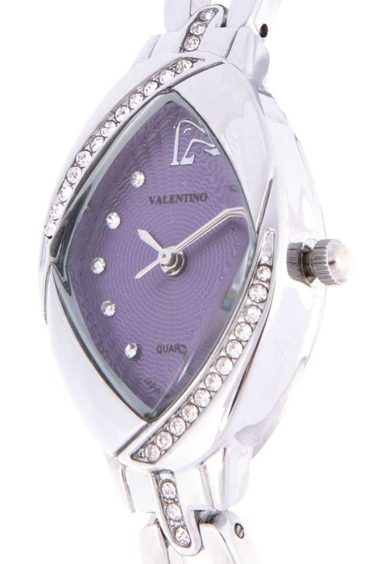 Valentino 20122136-VIOLET DIAL Silver Fashion Metal Band Watch for Women