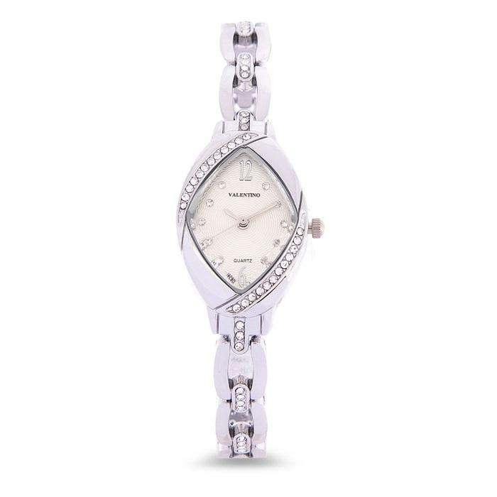 Valentino 20122136-WHITE DIAL Silver Fashion Metal Band Watch for Women