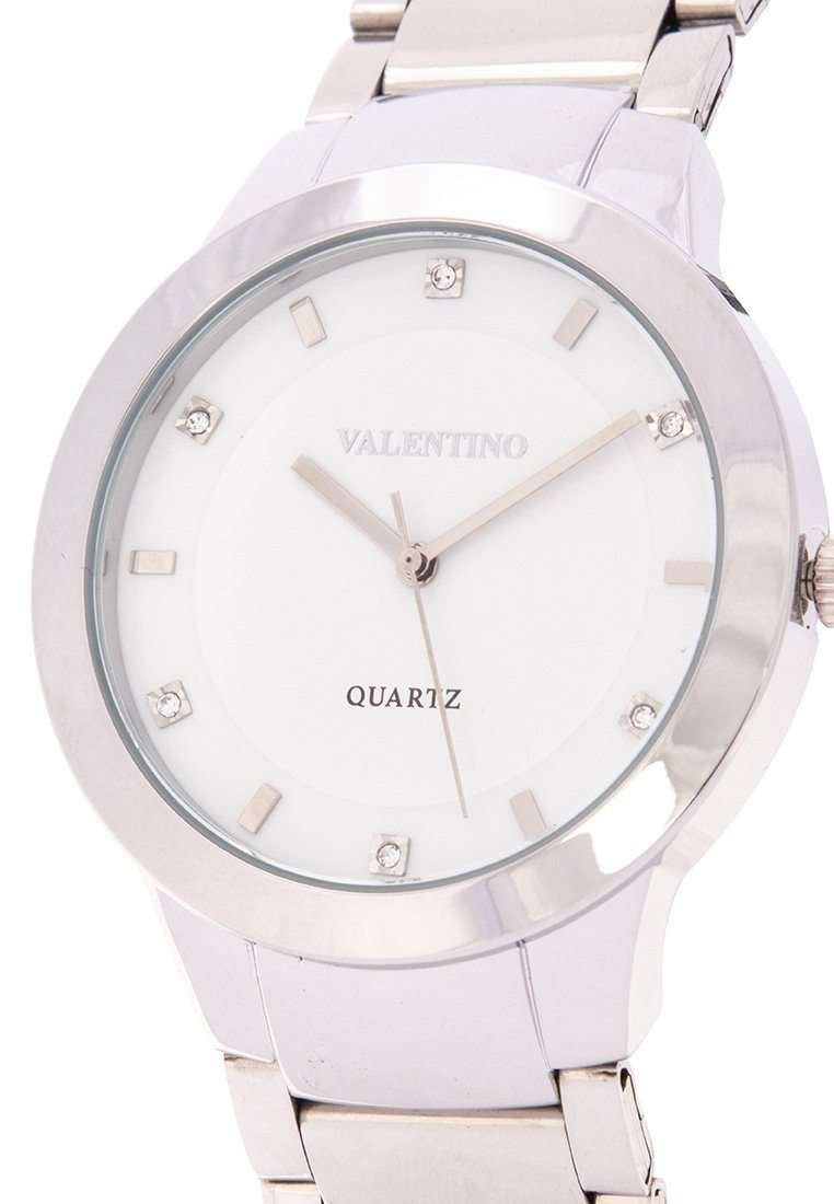 Valentino 20122137-WHITE DIAL Silver Stainless Steel Band Watch for Men
