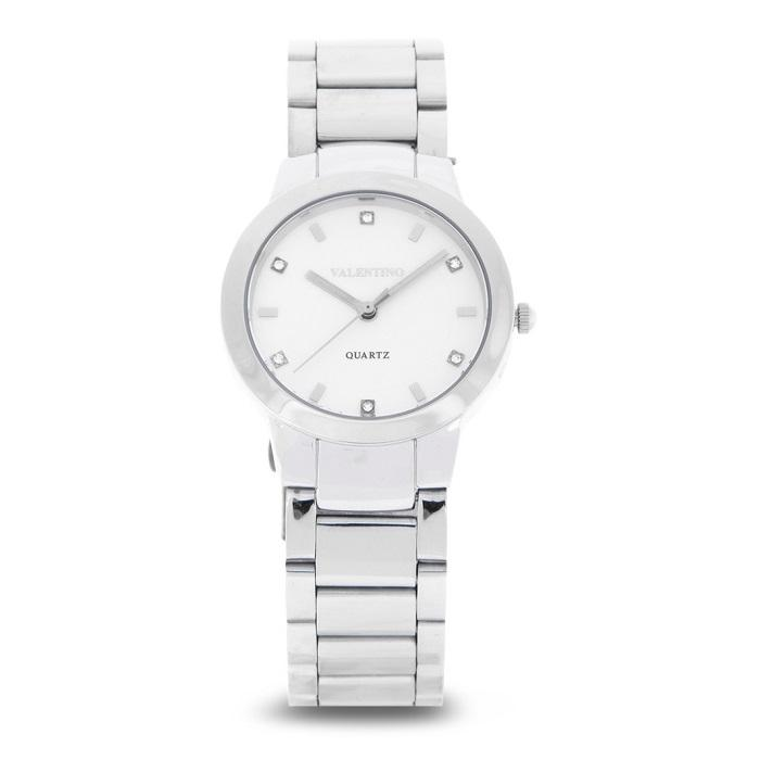 Valentino 20122138-SILVER DIAL Silver Stainless Steel Band Watch for Women