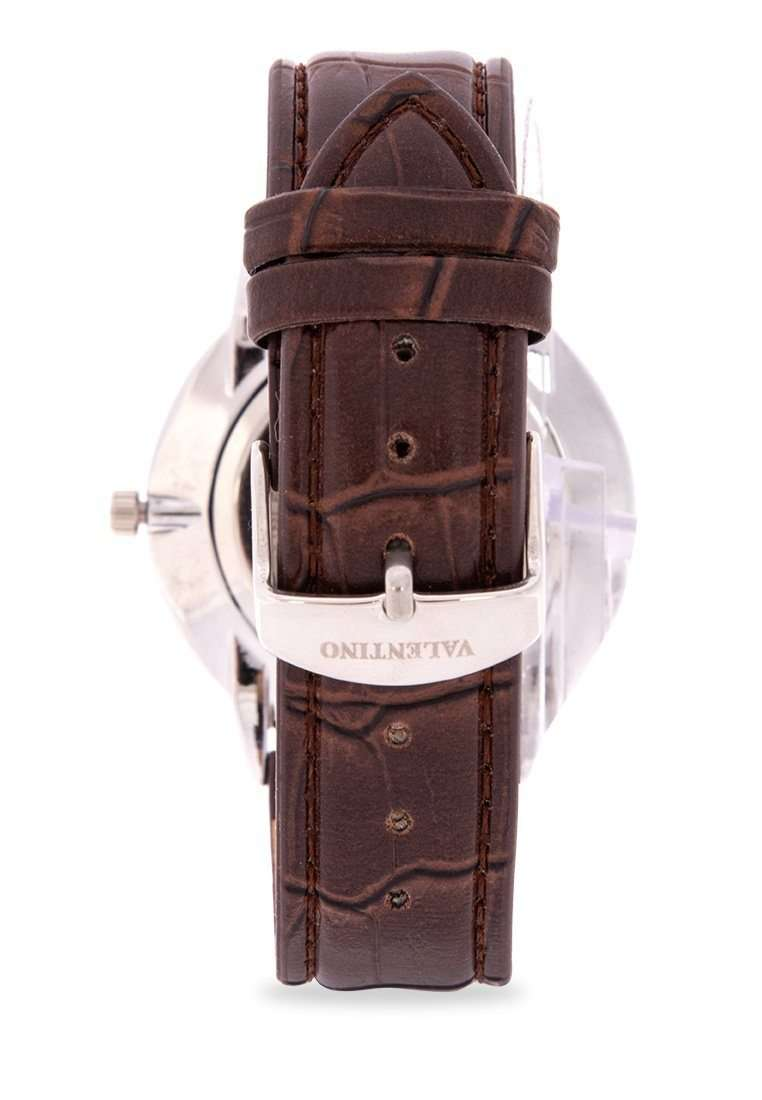Valentino 20122141-BRWN STRAP - BLACK DIAL Brown Leather Strap Watch for Men