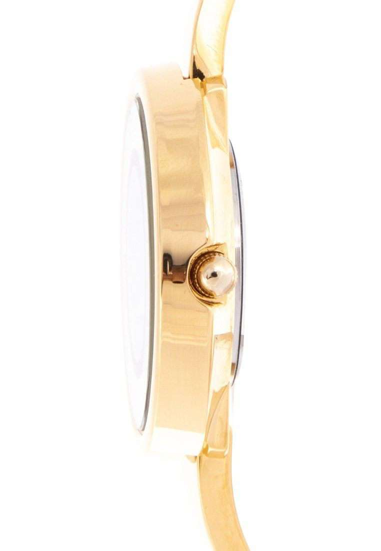 Valentino 20122148-BLACK DIAL Gold Fashion Metal Band Watch for Women