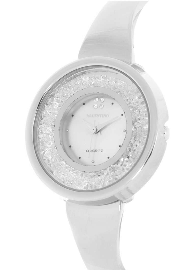 Valentino 20122150-WHITE DIAL Silver Fashion Metal Band Watch for Women
