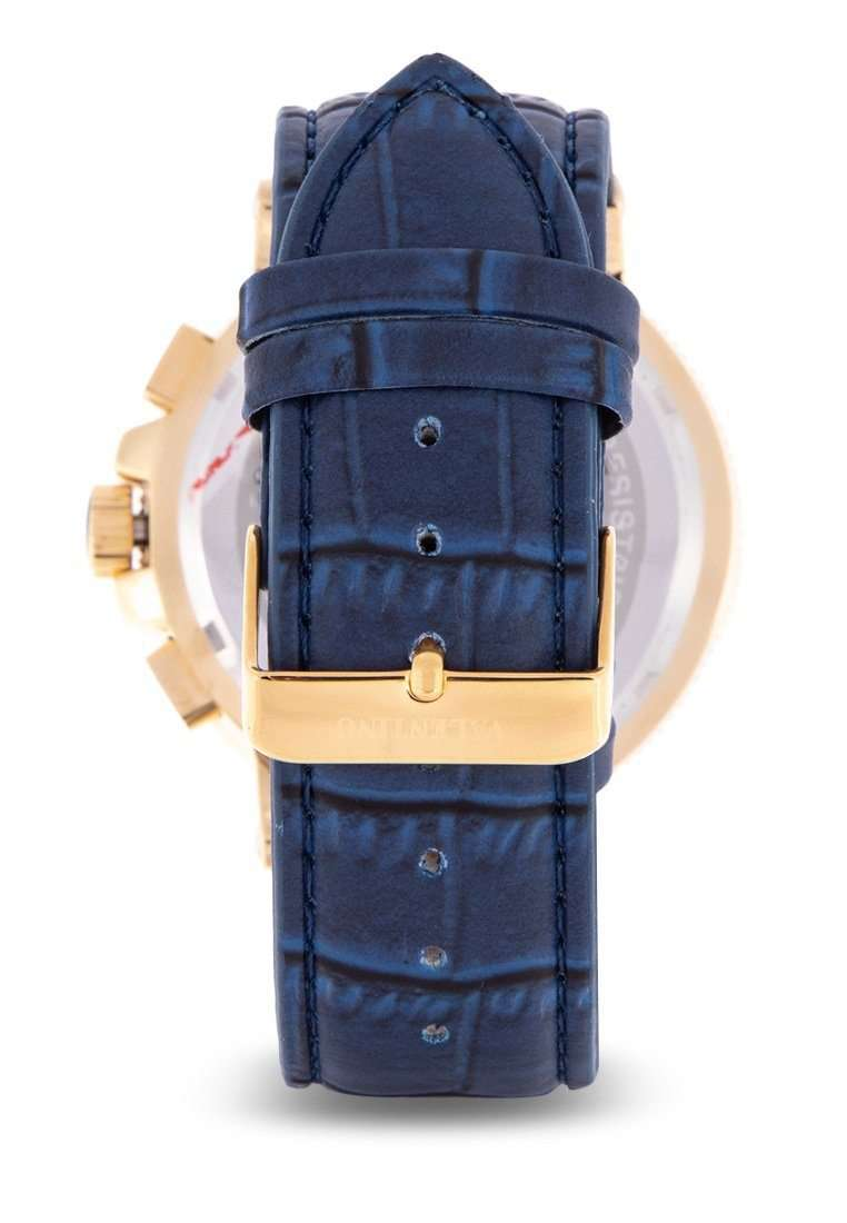 Valentino 20122152-BLUE DIAL Blue Leather Strap Watch for Men
