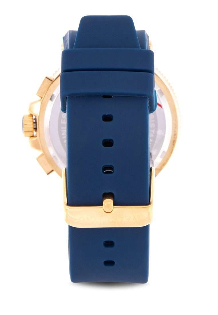 Valentino 20122155-BLUE DIAL Blue Rubber Strap Watch for Men
