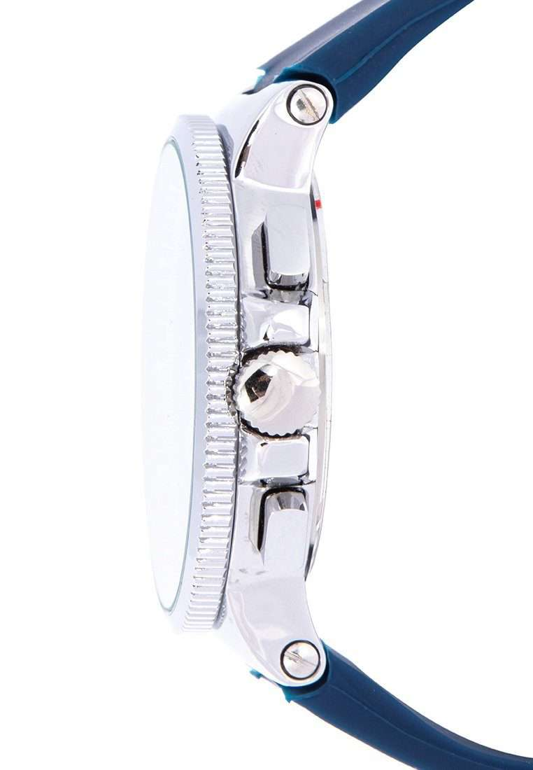 Valentino 20122157-BLUE DIAL - WHITE INDEX Blue Rubber Strap Watch for Men