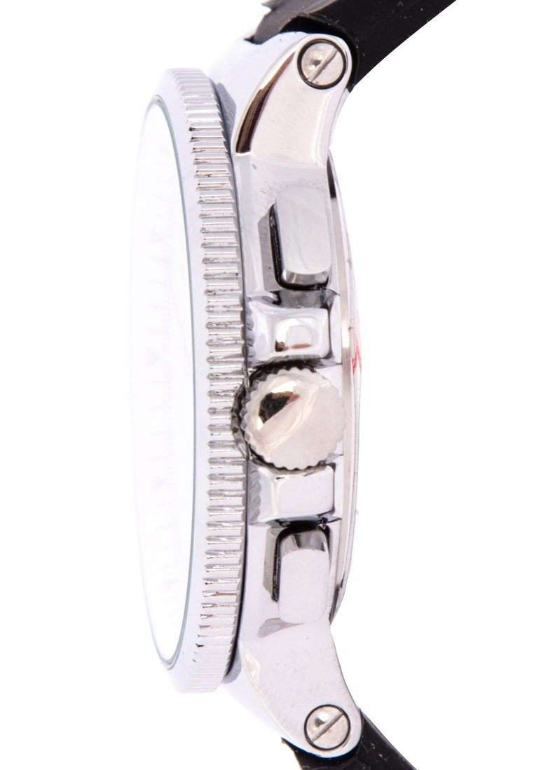 Valentino 20122157-WHT DIAL - BLACK INDEX Black Rubber Strap Watch for Men
