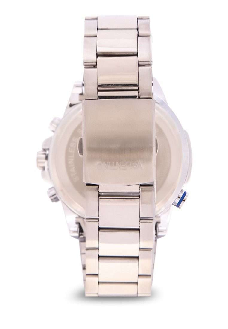 Valentino 20122166-BLUE CIRCLE Silver Stainless Steel Band Watch for Men