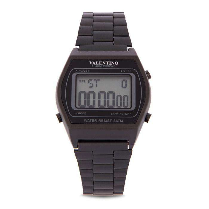 Valentino 20122167-WHITE DIAL Black Stainless Steel Band Watch for Men and Women