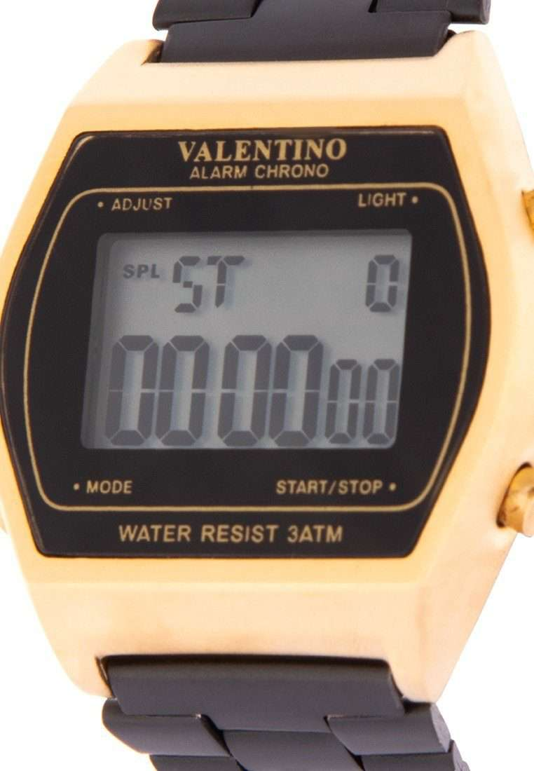 Valentino 20122168-WHITE DIAL Black Stainless Steel Band Watch for Men and Women