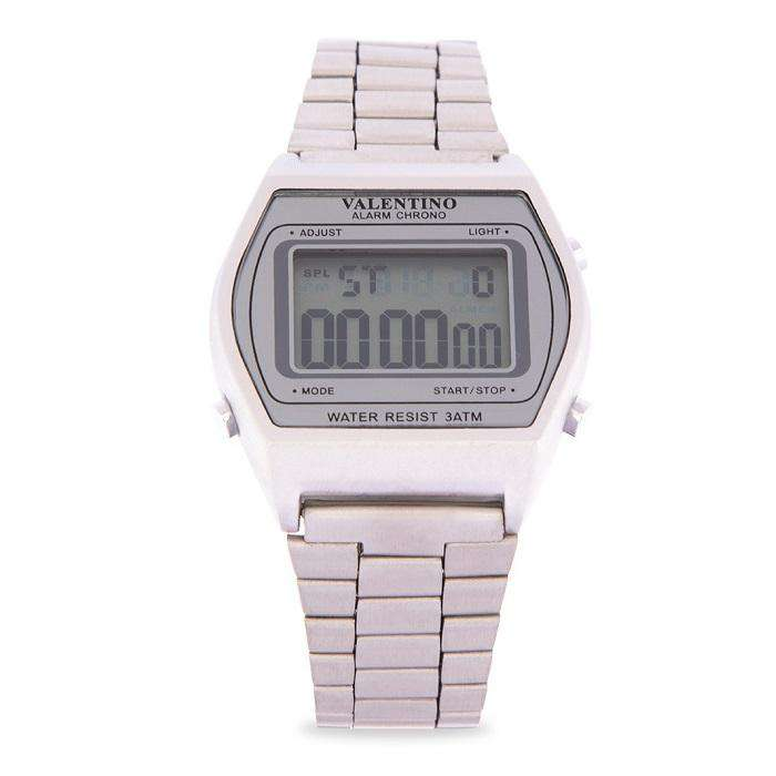 Valentino 20122171-SILVER SCREEN Silver Stainless Steel Band Watch for Men and Women