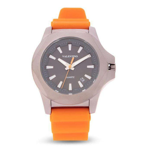 Valentino 20122179-ORANGE STRAP Orange Rubber Strap Watch for Men