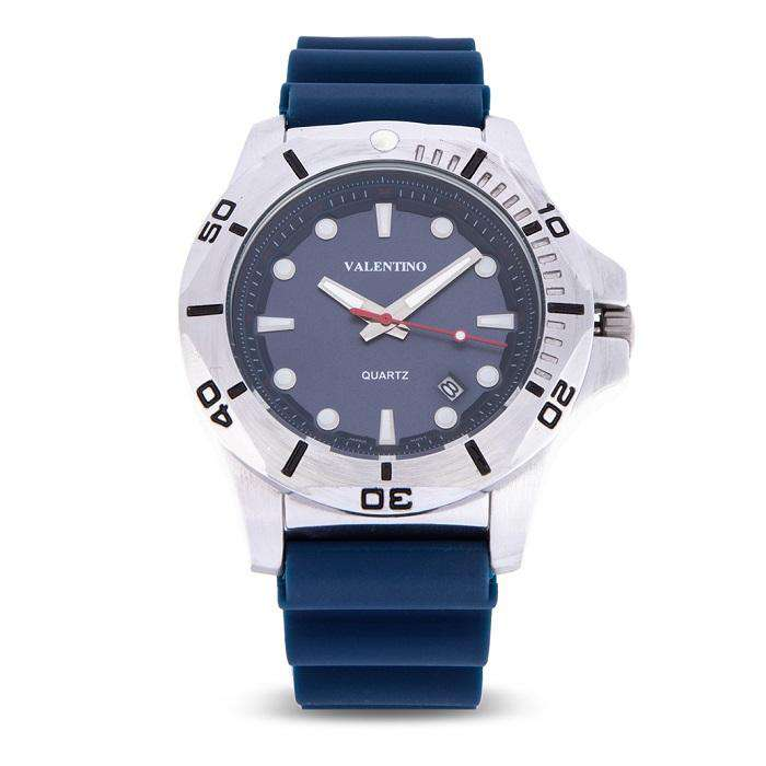 Valentino 20122180-BLUE STRAP Blue Rubber Strap Watch for Men
