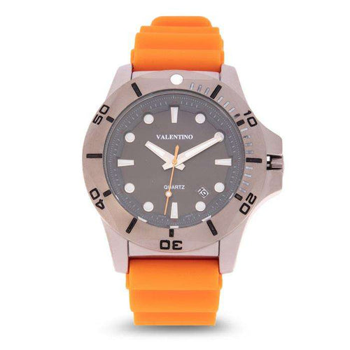 Valentino 20122181-ORANGE STRAP Orange Rubber Strap Watch for Men
