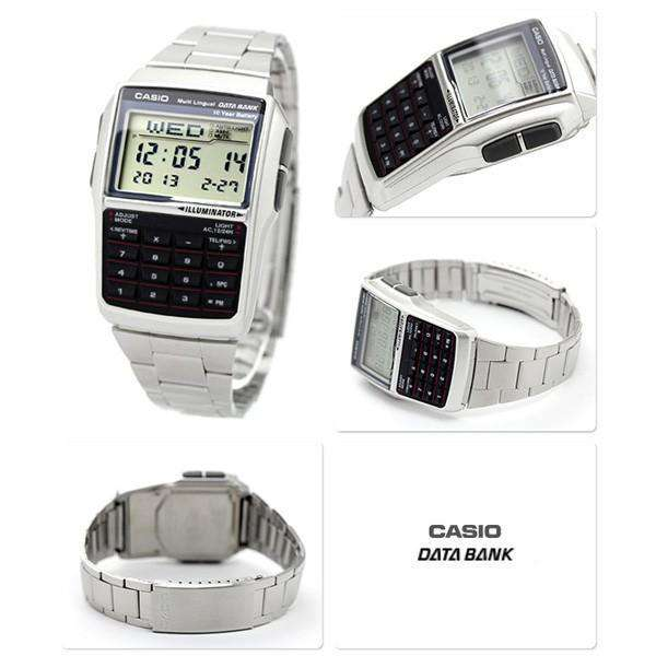 Casio DBC-32D-1A Silver Stainless Calculator Watch for Men and Women - Watchportal Philippines