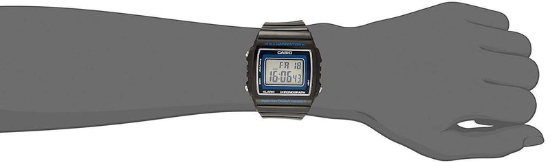 Casio W-215H-8A Dark Gray Resin Strap Watch For Men and Women - Watchportal Philippines