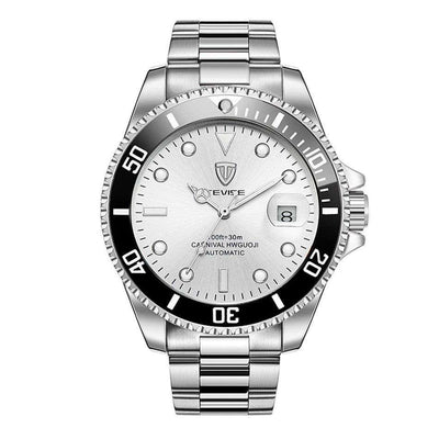 TEVISE T801A Silver/White Automatic Men's Watch