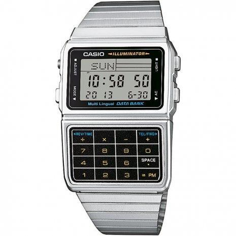 Casio DBC-611-1D Silver Stainless Calculator Watch for Men and Women - Watchportal Philippines