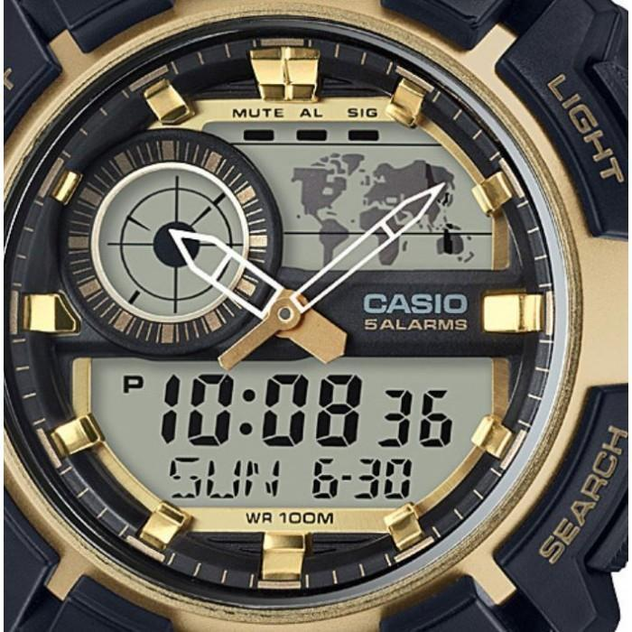 Casio AEQ-200W-9A Black Resin Strap Watch for Men - Watchportal Philippines