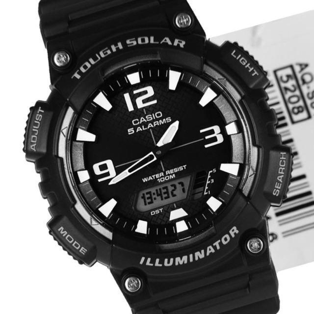 Casio AQ-S810W-1A Black Solar Powered Watch for Men - Watchportal Philippines