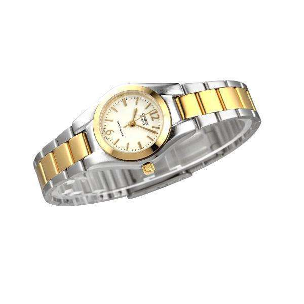 Casio LTP-1253SG-7A Two Tone Stainless Steel Watch for Women - Watchportal Philippines