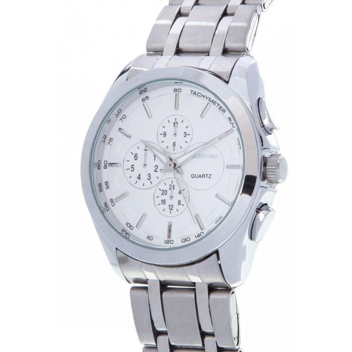 Valentino 20121983-WHITE-SILVER INDEX SILVER STAINLESS STRAP Watch for Men
