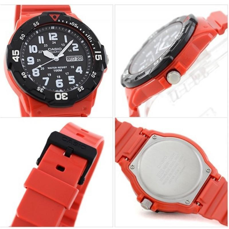 Casio MRW-200HC-4B Red Resin Strap Watch for Men - Watchportal Philippines