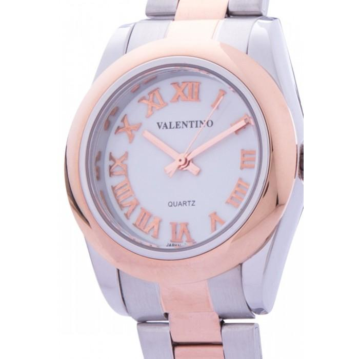Valentino 20122024-WHITE DIAL ROSE GOLD STAINLESS STEEL STRAP Watch for Women