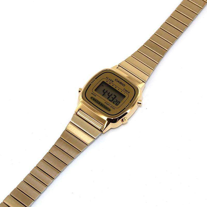 Casio Vintage LA670WGA-9D Gold Plated Watch for Women - Watchportal Philippines