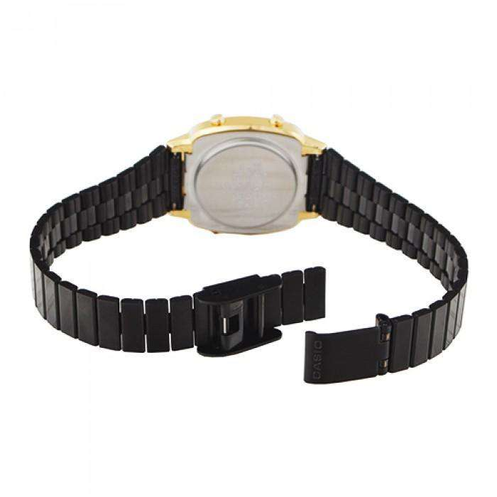 Casio Vintage LA670WEGB-1B Black Plated Stainless Steel Watch for Women - Watchportal Philippines