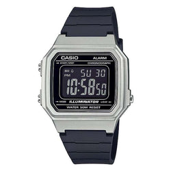 Casio W-217HM-7B Black/Silver Resin Strap Watch for Men and Women