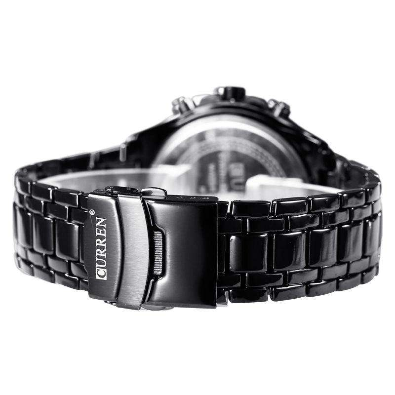 Curren 8023-3-Black/Black Stainless Steel Watch