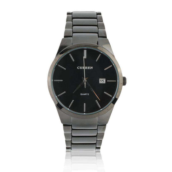 Curren 8106D-2-Silver/Black Stainless Steel Watch
