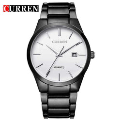Curren 8106D-3-Black/Silver Stainless Steel Watch