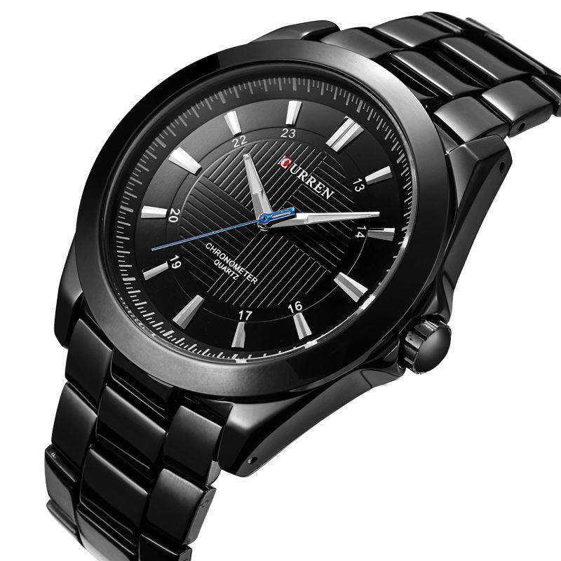 Curren 8109-2-Black/Black Stainless Steel Watch