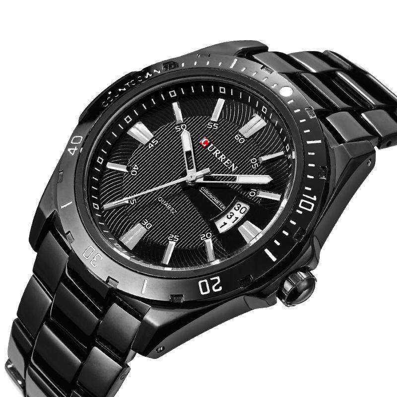 Curren 8110D-1-Black/Black Stainless Steel Watch