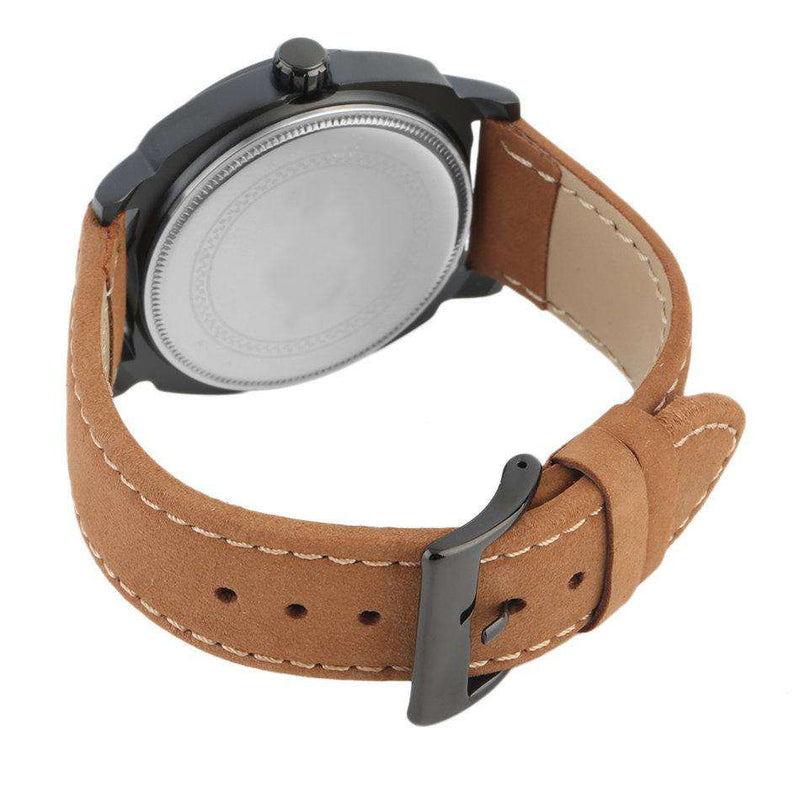 Curren 8139-2-Brown/Black/Black Leather Strap Watch