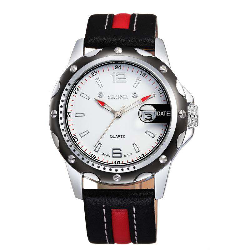Skone 9117-1 Men's Leather Watch