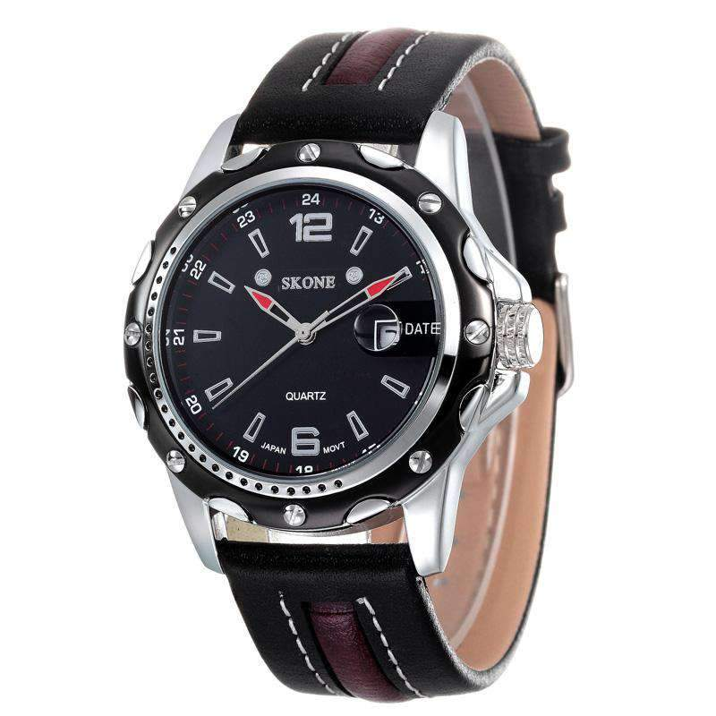 Skone 9117-4 Men's Leather Watch