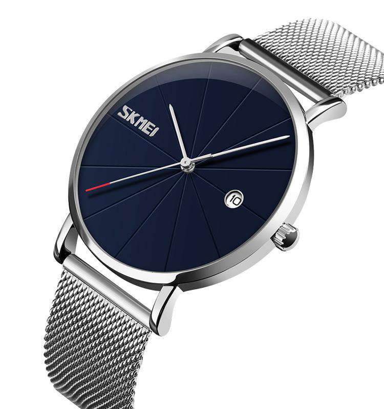 Skmei 9183-2 Silver/Blue Mens Watch