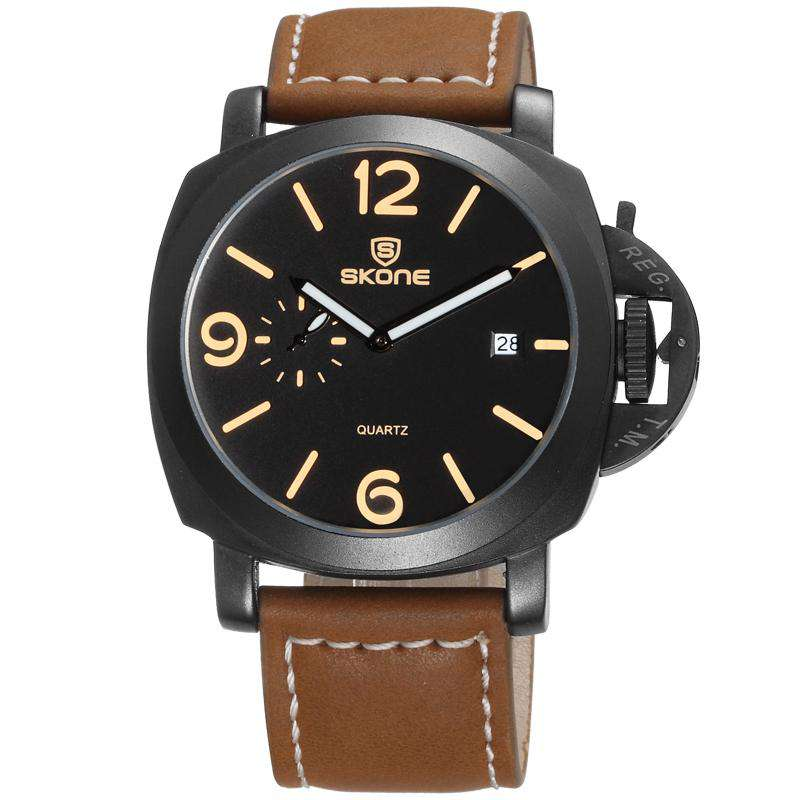 Skone 9408EG-1 Men's Leather Watch