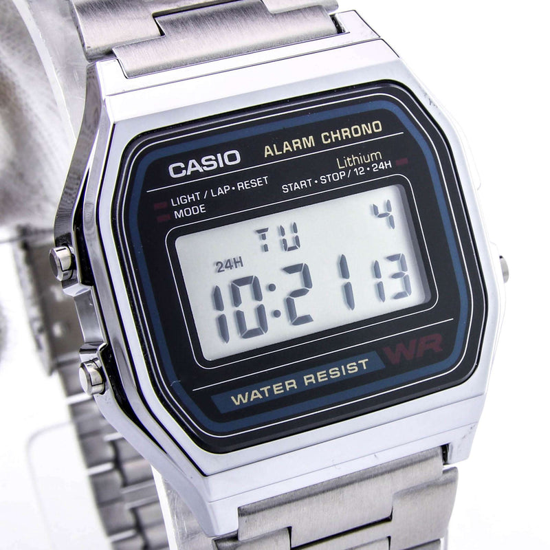 Casio Vintage A158WA-1D Silver Stainless Steel Watch Unisex